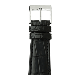 Correa para Apple Watch de piel alligator en negro | Roobaya