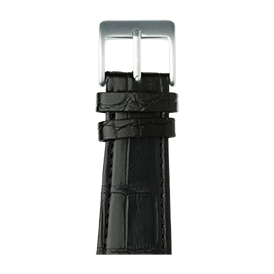 Bracelet Apple Watch cuir alligator noir | Roobaya