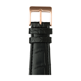 Apple Watch band alligator leather black | Roobaya
