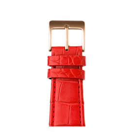 Apple Watch band alligator leather red | Roobaya