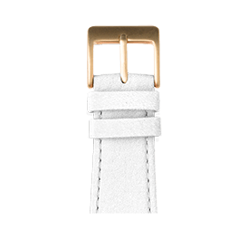 Bracelet Apple Watch cuir nappa blanc | Roobaya
