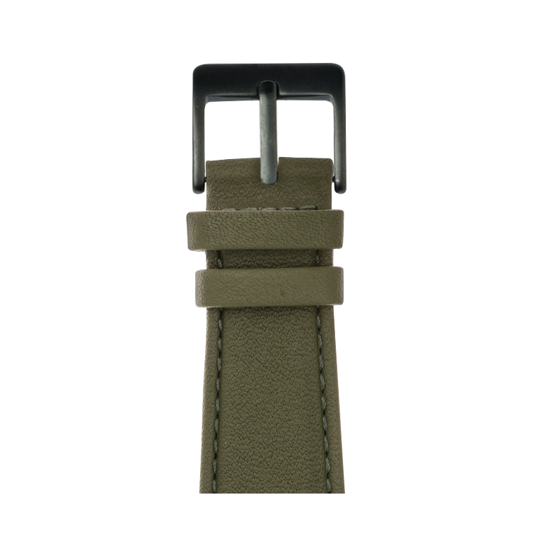 Cinturino Apple Watch in pelle nappa verde oliva | Roobaya