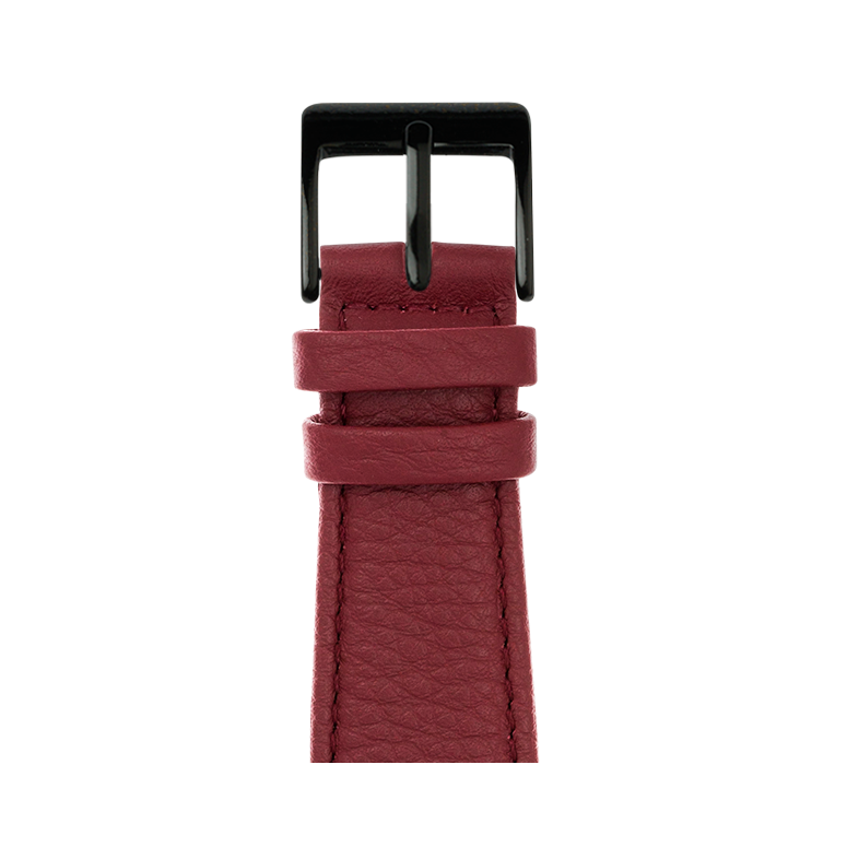 Bracelet Apple Watch cuir nappa bourgogne | Roobaya