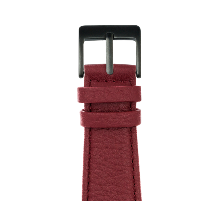Cinturino Apple Watch in pelle nappa borgogna | Roobaya