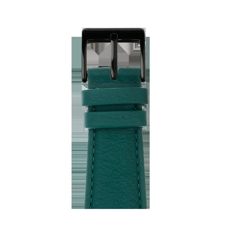 Bracelet Apple Watch cuir nappa vert foncé | Roobaya