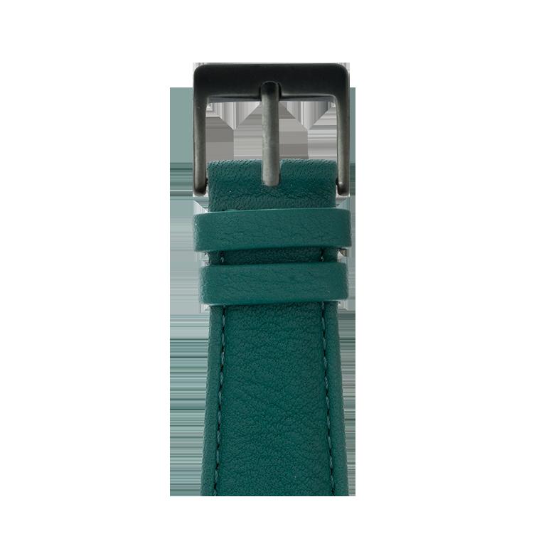Cinturino Apple Watch in pelle nappa verde scuro | Roobaya