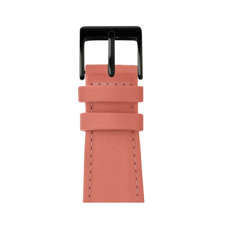 Bracelet Apple Watch cuir nappa abricot | Roobaya