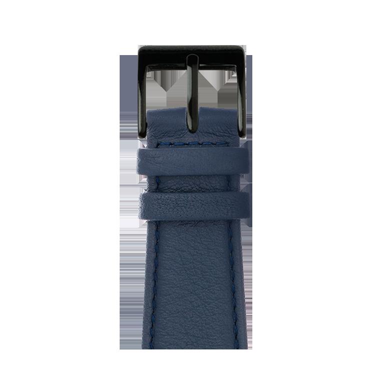 Bracelet Apple Watch cuir nappa bleu foncé | Roobaya