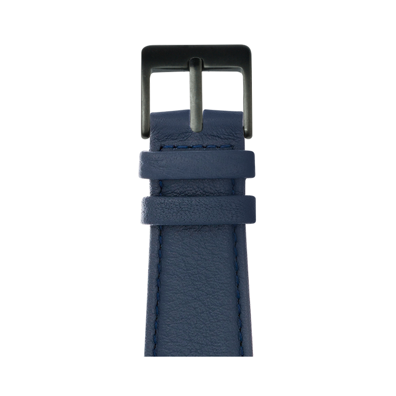 Cinturino Apple Watch in pelle nappa blu scuro | Roobaya