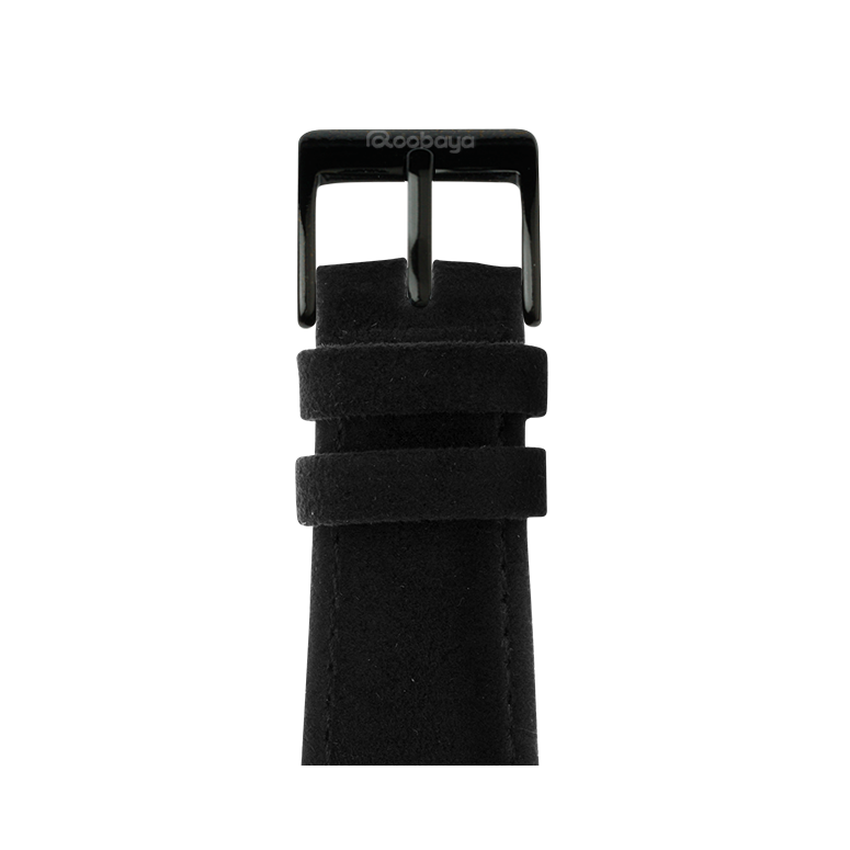 Bracelet en Alcantara Noir | Roobaya