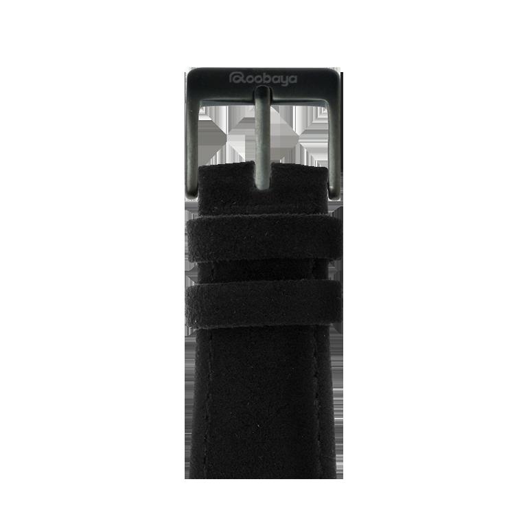 Cinturino Apple Watch in Alcantara Nero | Roobaya