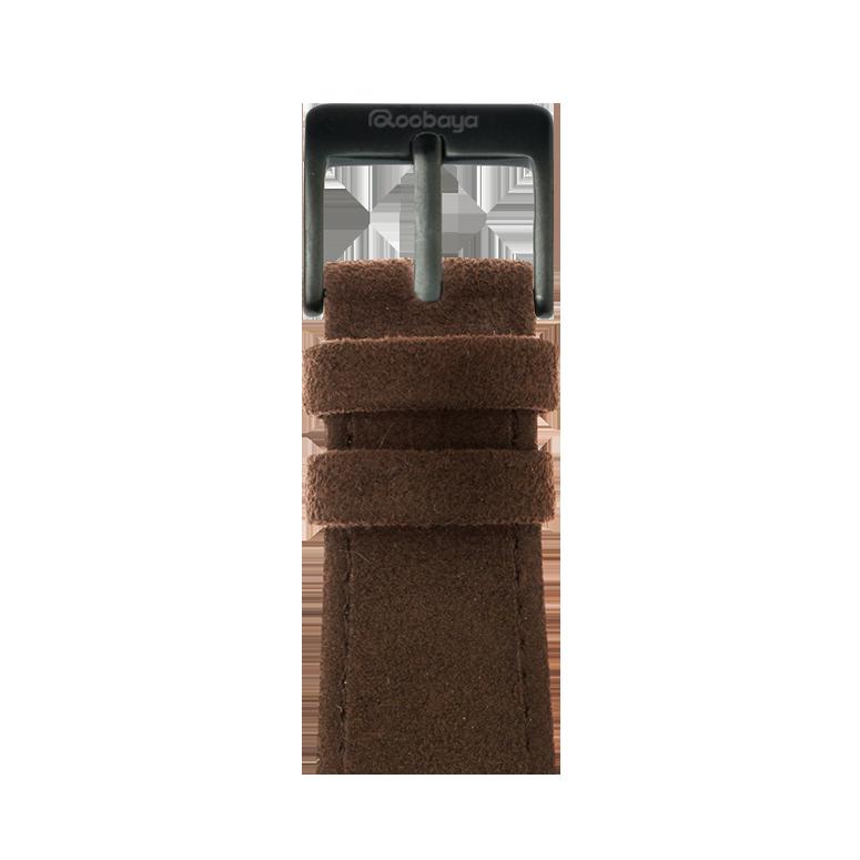 Cinturino Apple Watch in Alcantara Marrone Scuro | Roobaya