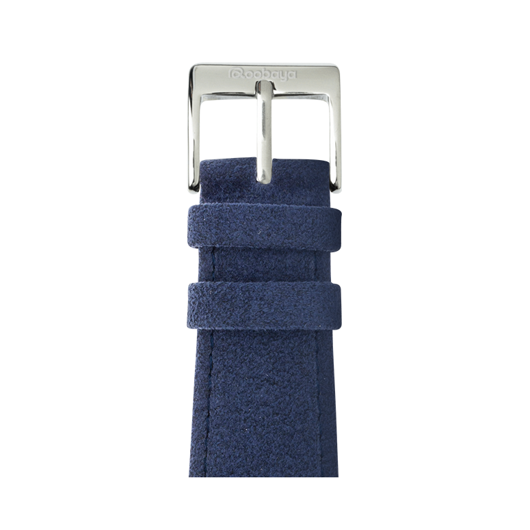 Correa para Apple Watch de Alcantara en Azul | Roobaya