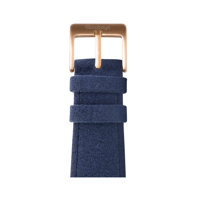 Cinturino Apple Watch in Alcantara Blu | Roobaya