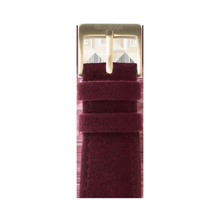 Cinturino Apple Watch in Alcantara vino rosso | Roobaya