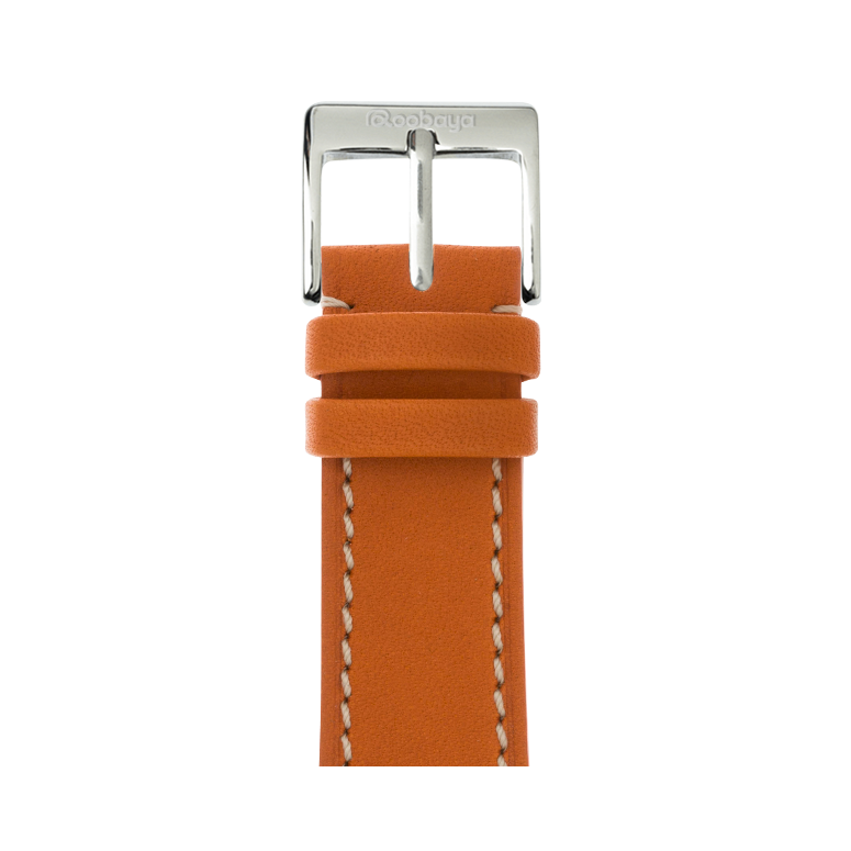 Correa para Apple Watch de piel french calf en naranja | Roobaya