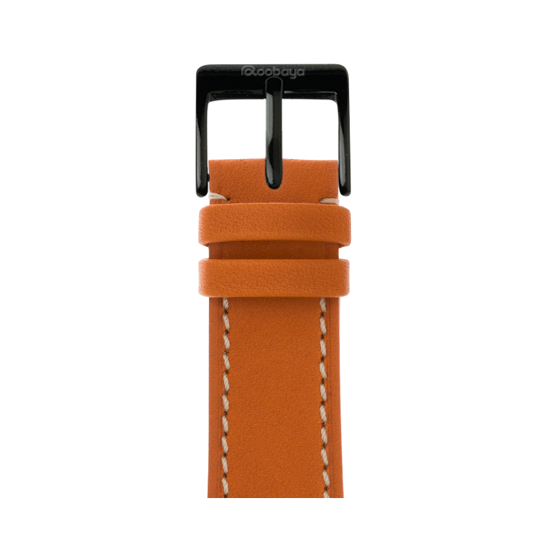 Apple Watch Lederarmband French Calf Orange | Roobaya