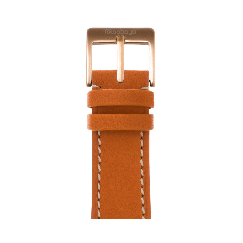 Apple Watch band french calf leather orange | Roobaya