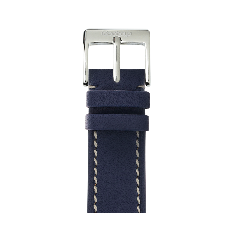Apple Watch band french calf leather dark blau | Roobaya