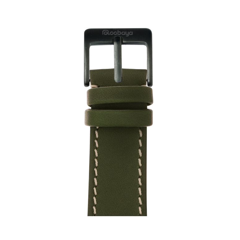 Roobaya | Premium French Calf Leder Armband Forest für Apple Watch Series 1, 2 & 3 | 38 & 42 mm