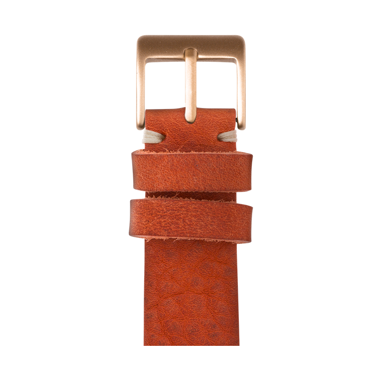 Apple Watch band vintage leather orange | Roobaya