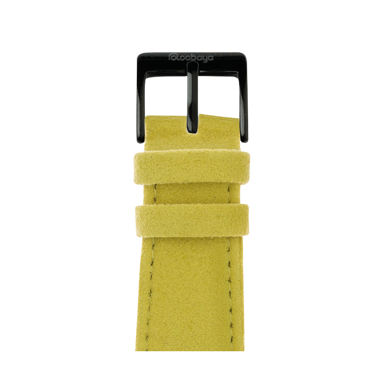 Cinturino Apple Watch in Alcantara Giallo | Roobaya