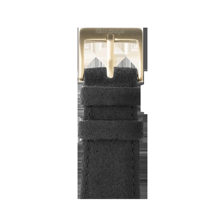 Cinturino Apple Watch in Alcantara Grigio Scuro | Roobaya