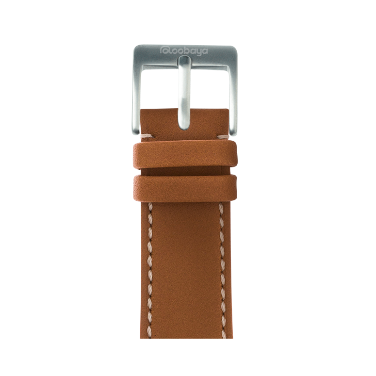 Correa para Apple Watch de piel french calf en coñac | Roobaya