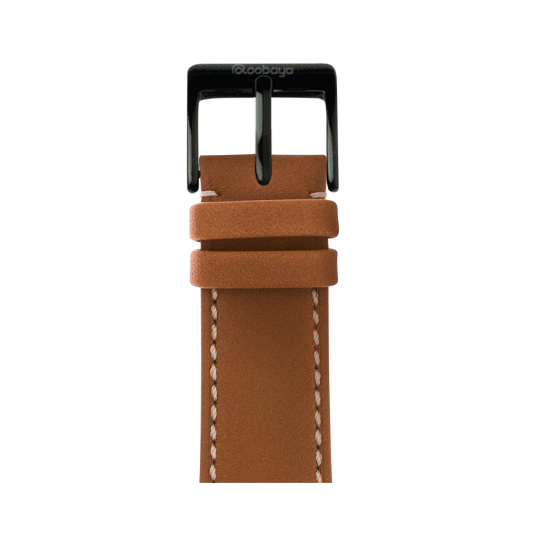 Bracelet Apple Watch cuir french calf cognac | Roobaya