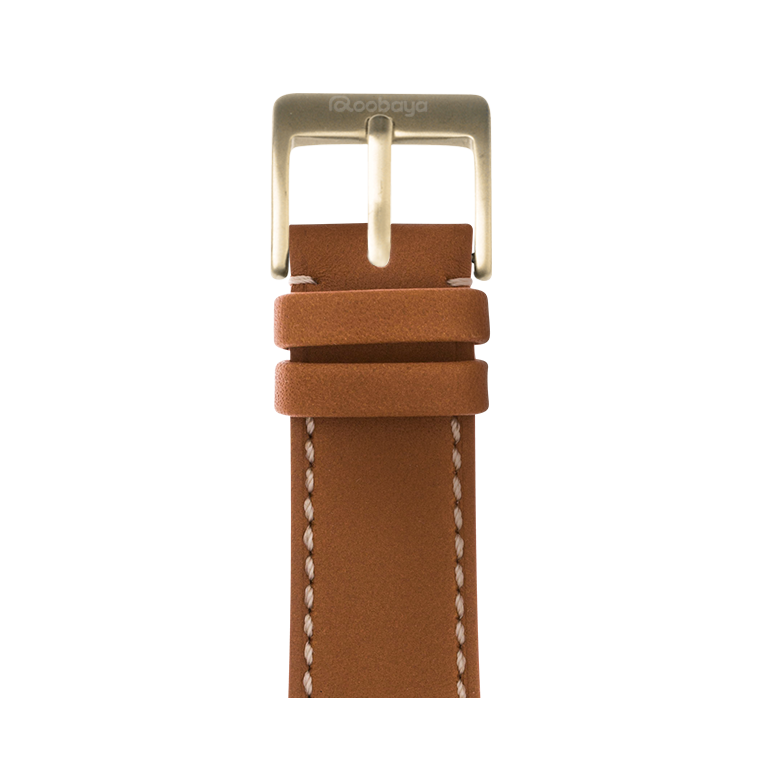 Apple Watch band french calf leather cognac | Roobaya