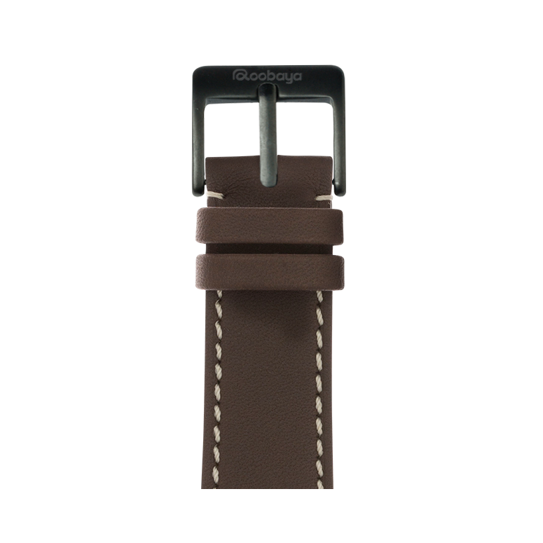 Roobaya | Premium French Calf Leder Armband Chocolat für Apple Watch Series 1, 2 & 3 | 38 & 42 mm