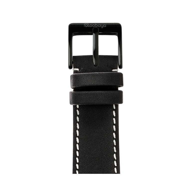 Apple Watch band french calf leather graphite | Roobaya