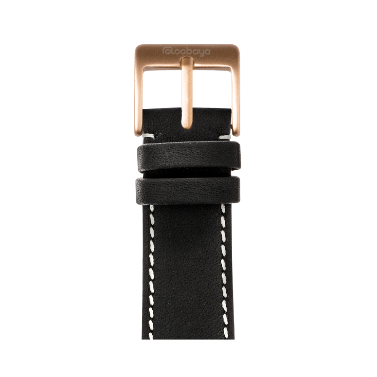 French Calf Leder Armband in Graphit für die Apple Watch Series 1, 2, 3 & 4 in 38mm, 40mm, 42mm & 44mm Gehäusegröße von Roobaya - Made in Germany