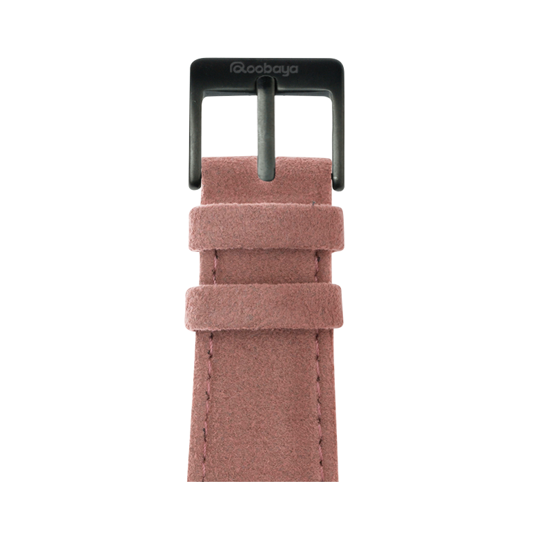 Correa para Apple Watch de Alcantara en Rosa | Roobaya