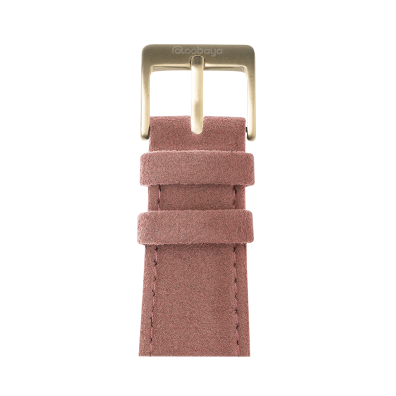 Alcantara Armband in Rosa für die Apple Watch Series 1, 2, 3 & 4 in 38mm, 40mm, 42mm & 44mm Gehäusegröße von Roobaya - Made in Germany