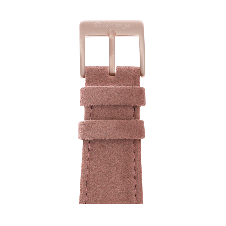 Cinturino Apple Watch in Alcantara Rosa | Roobaya