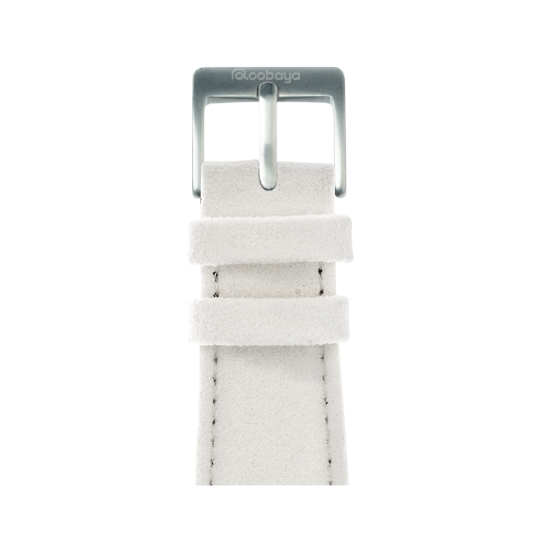 Correa para Apple Watch de Alcantara en Blanco | Roobaya