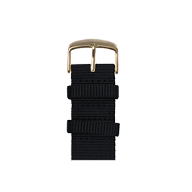 Nylon Watch band in black for the Apple Watch Series 1, 2, 3 & 4 in 38mm, 40mm, 42mm & 44mm case size by Roobaya - Made in Germany