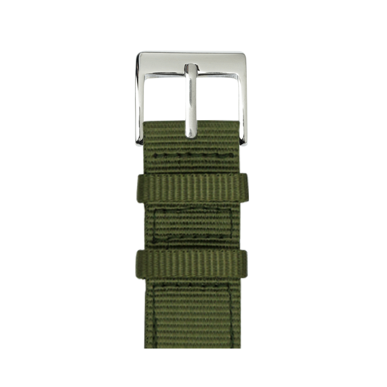 Nylon Armband in Olive für die Apple Watch Series 1, 2, 3 & 4 in 38mm, 40mm, 42mm & 44mm Gehäusegröße von Roobaya - Made in Germany