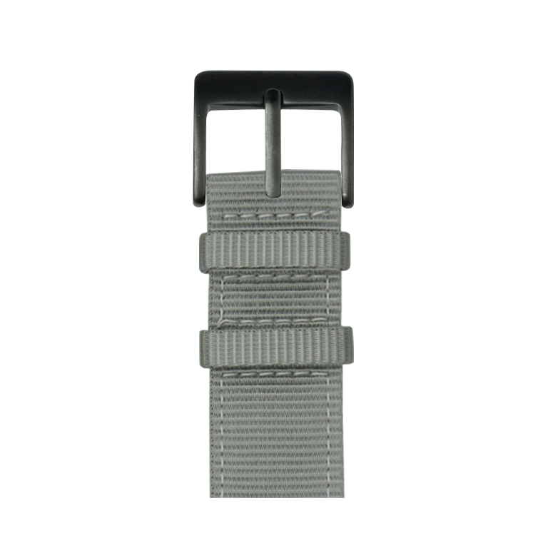 Nylon Watch band in dark blue / white for the Apple Watch Series 1, 2, 3 & 4 in 38mm, 40mm, 42mm & 44mm case size by Roobaya - Made in Germany