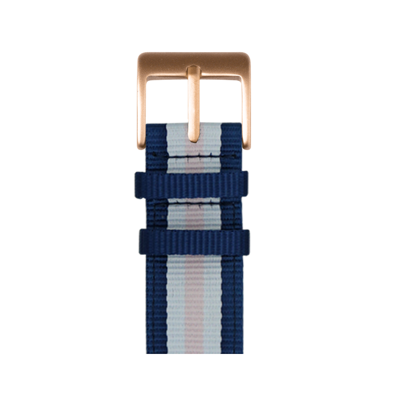 Correa para Apple Watch de nailon en azul/blanco | Roobaya