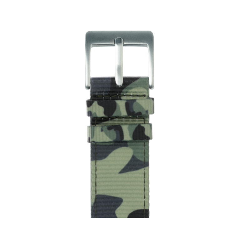 Nylon Armband in Camouflage für die Apple Watch Series 1, 2, 3 & 4 in 38mm, 40mm, 42mm & 44mm Gehäusegröße von Roobaya - Made in Germany