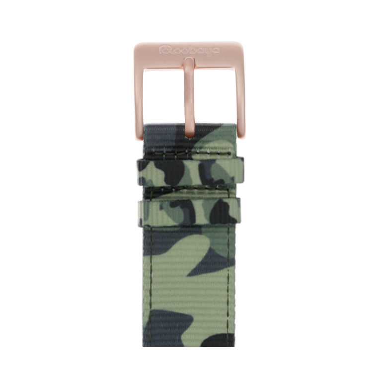 Nylon Armband Heavy Duty in Camouflage für die Apple Watch Series 1, 2, 3 & 4 in 38mm, 40mm, 42mm & 44mm Gehäusegröße von Roobaya - Made in Germany