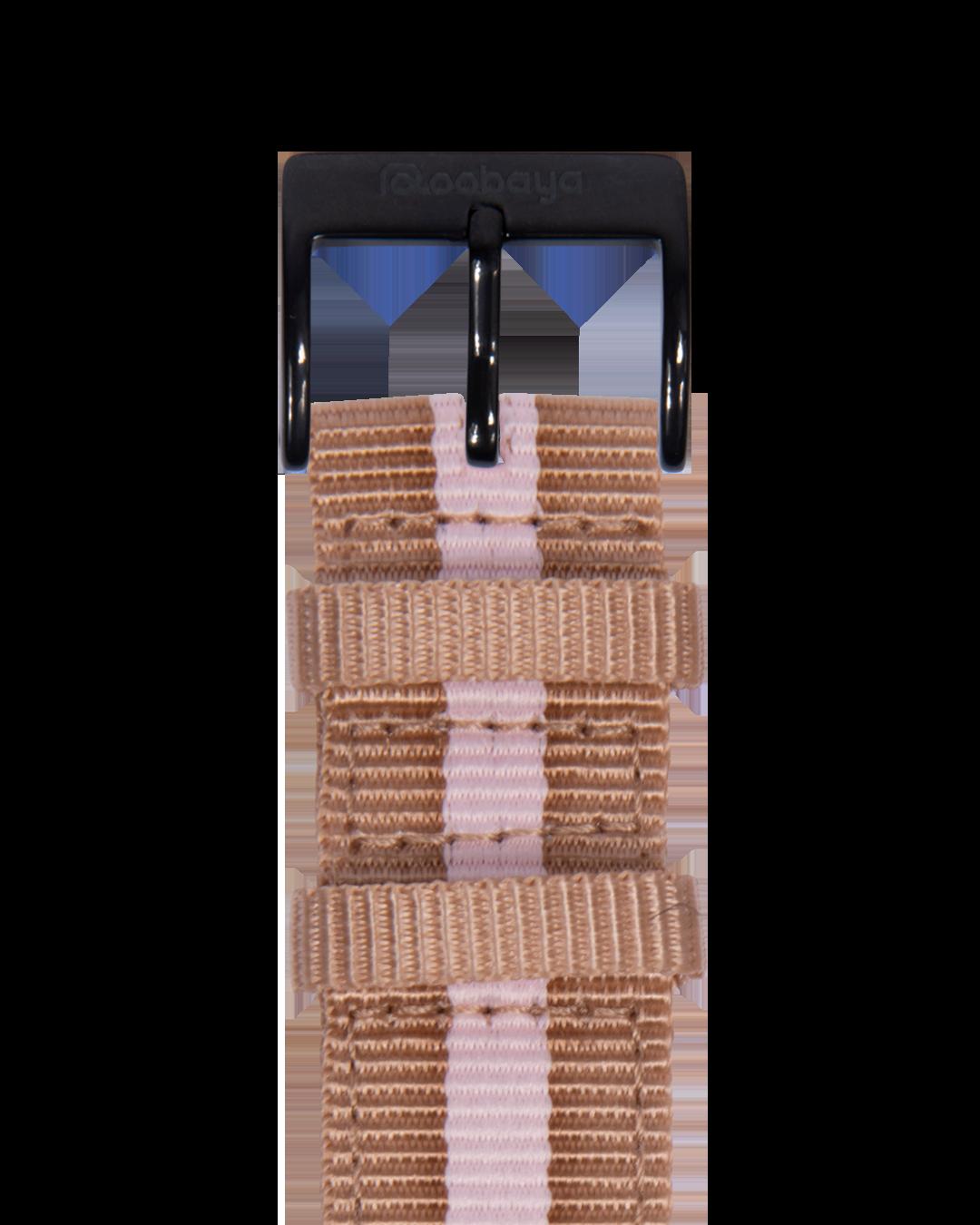 Nylon Armband in Sand / Hellrosa für die Apple Watch Series 1, 2, 3 & 4 in 38mm, 40mm, 42mm & 44mm Gehäusegröße von Roobaya - Made in Germany