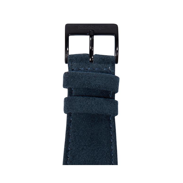 Alcantara Armband in Blaugrün für die Apple Watch Series 1, 2, 3 & 4 in 38mm, 40mm, 42mm & 44mm Gehäusegröße von Roobaya - Made in Germany