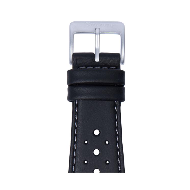 Bracelet Apple Watch racing cuir imperméable noir | Roobaya