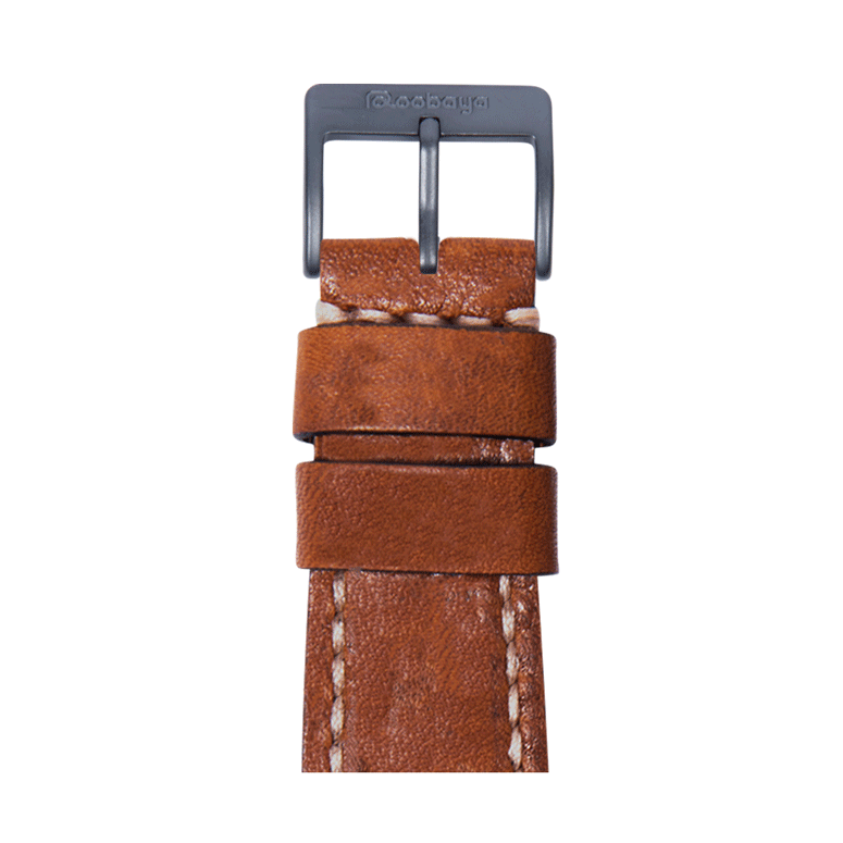 Cinturino Apple Watch in pelle vintage marrone medio | Roobaya
