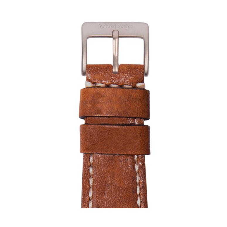 Bracelet Apple Watch cuir vintage marron moyen | Roobaya