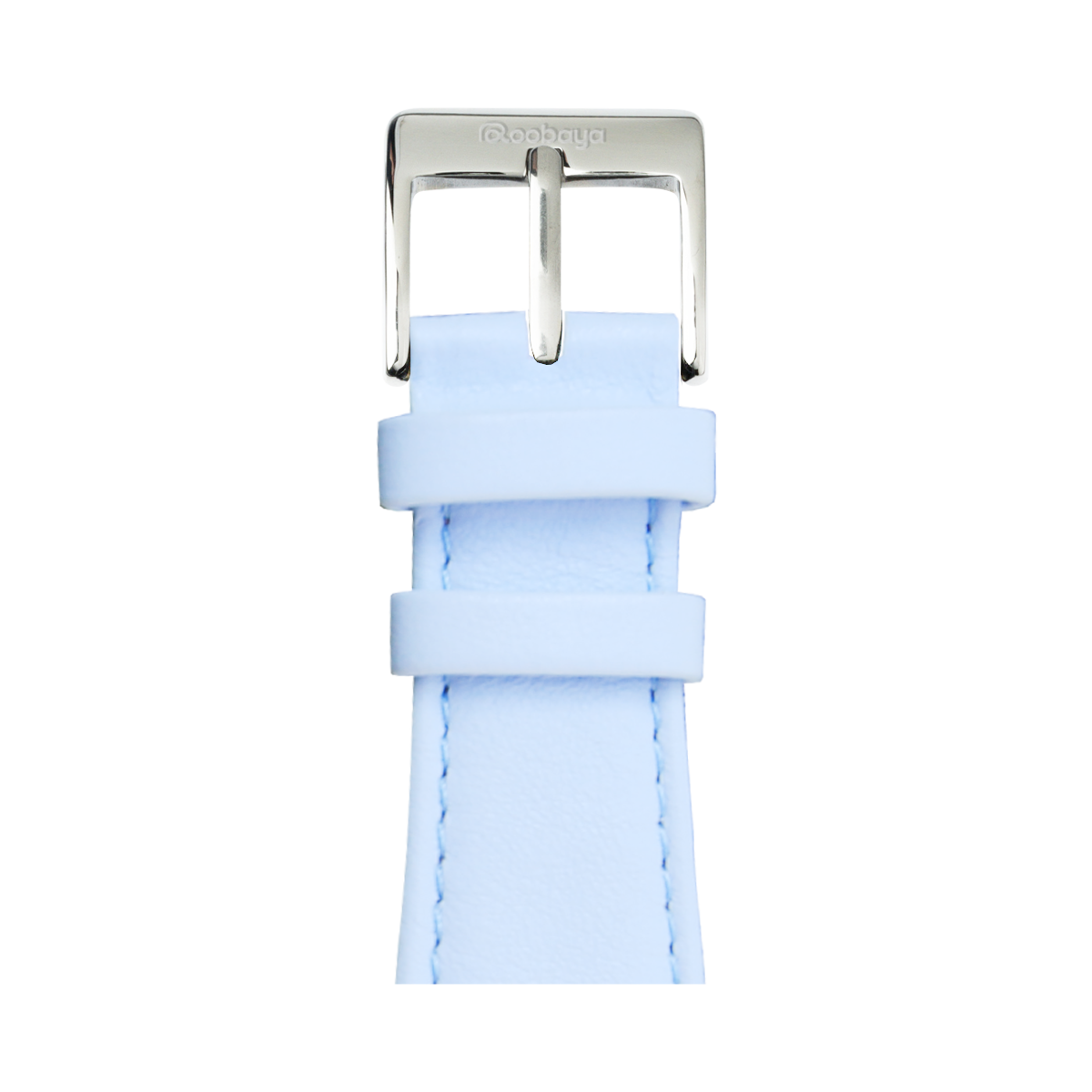 Limited Edition Nappa Leder Armband in Hellblau für die Apple Watch Series 1, 2, 3 & 4 in 38mm, 40mm, 42mm & 44mm Gehäusegröße von Roobaya - Made in Germany