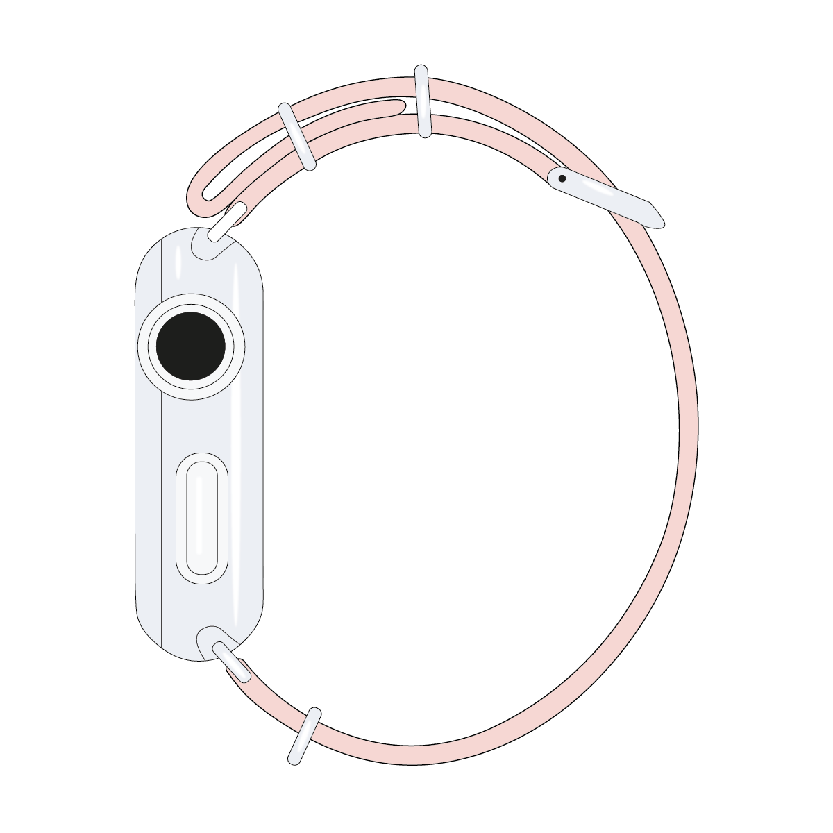 Correa para Apple Watch de nailon NATO en rosa claro | Roobaya – Bild 4